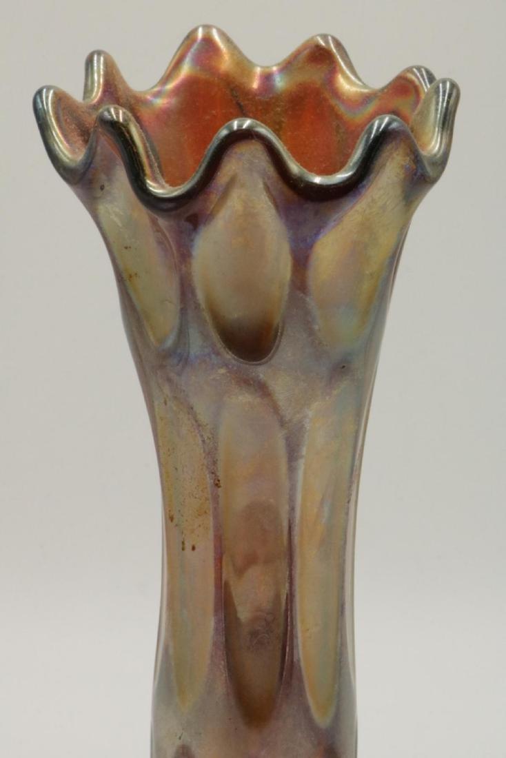 Unsigned Iridescent Art Glass Vase - 2