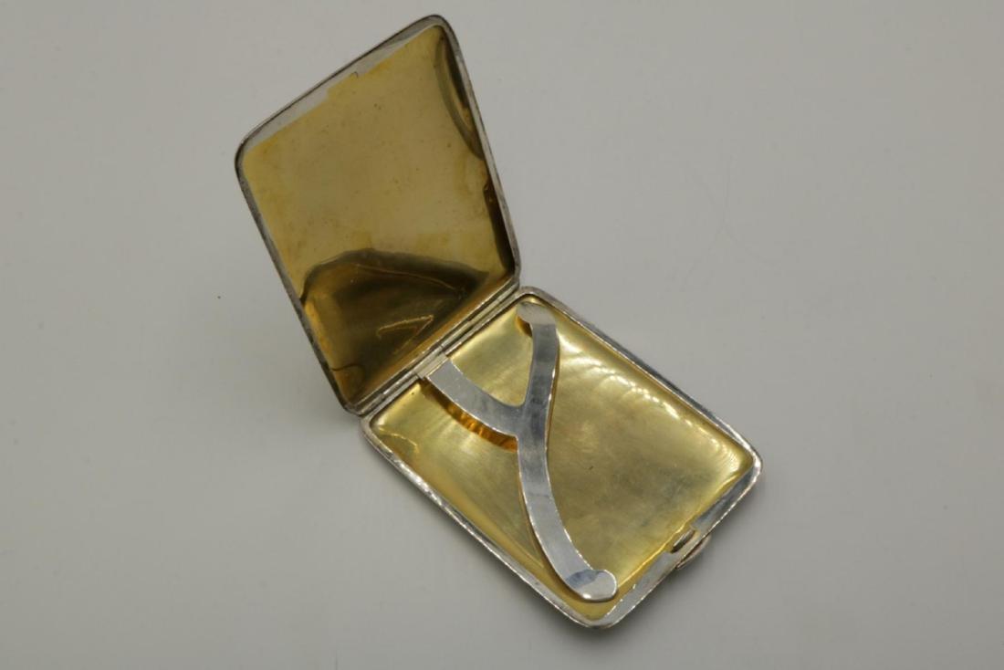 Napier Sterling Silver Cigarette Case - 3