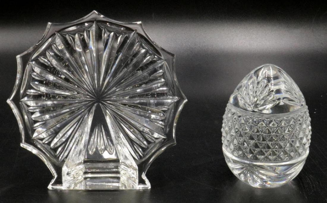 2 Pc. Waterford & France Crystal Paperweights