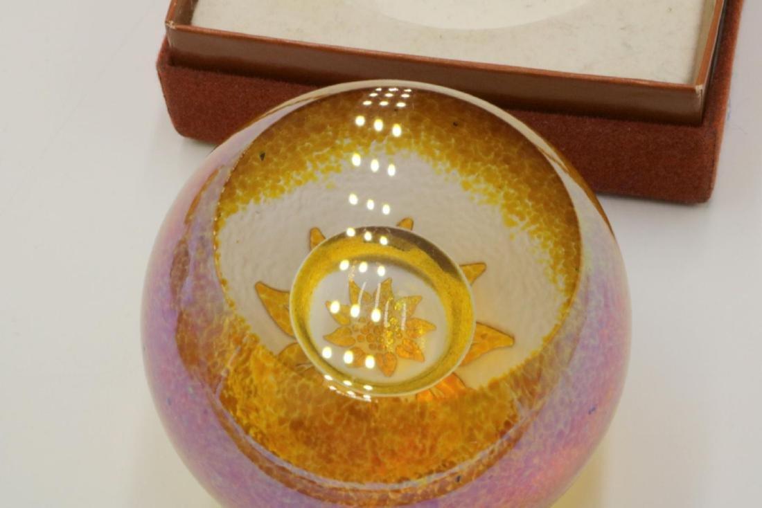 Bridgeton Studio Art Glass Paperweight - 3