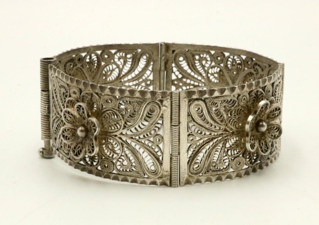 Filigree Sterling Silver Bracelet