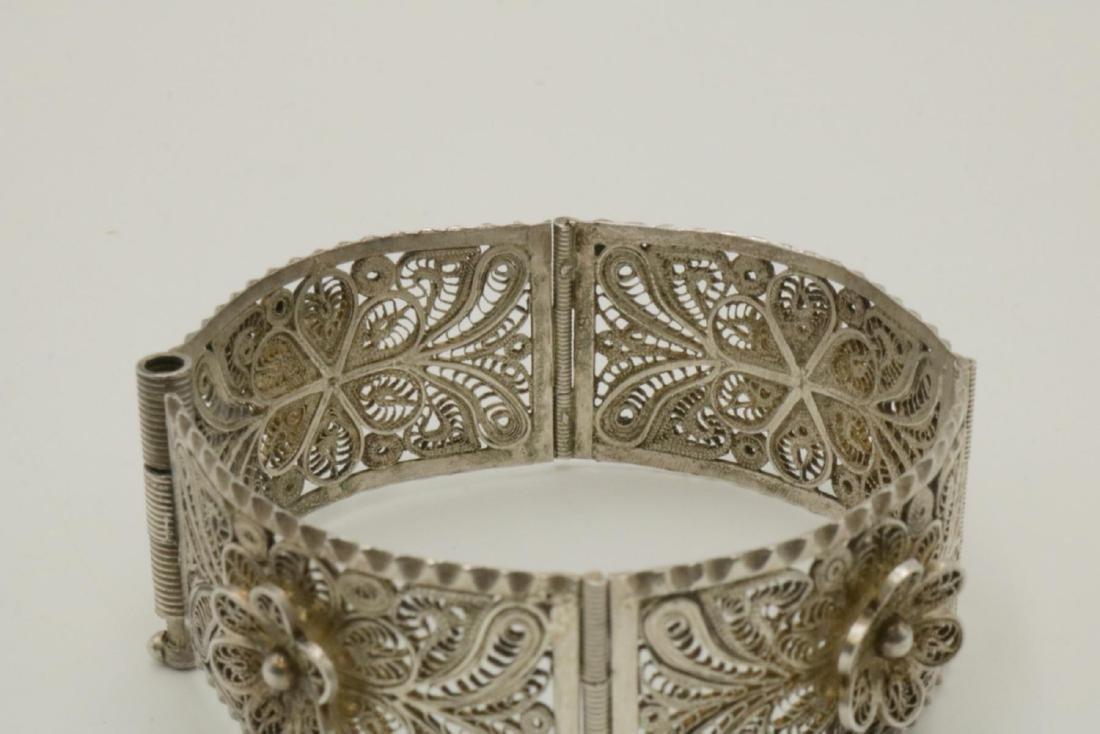 Filigree Sterling Silver Bracelet - 2