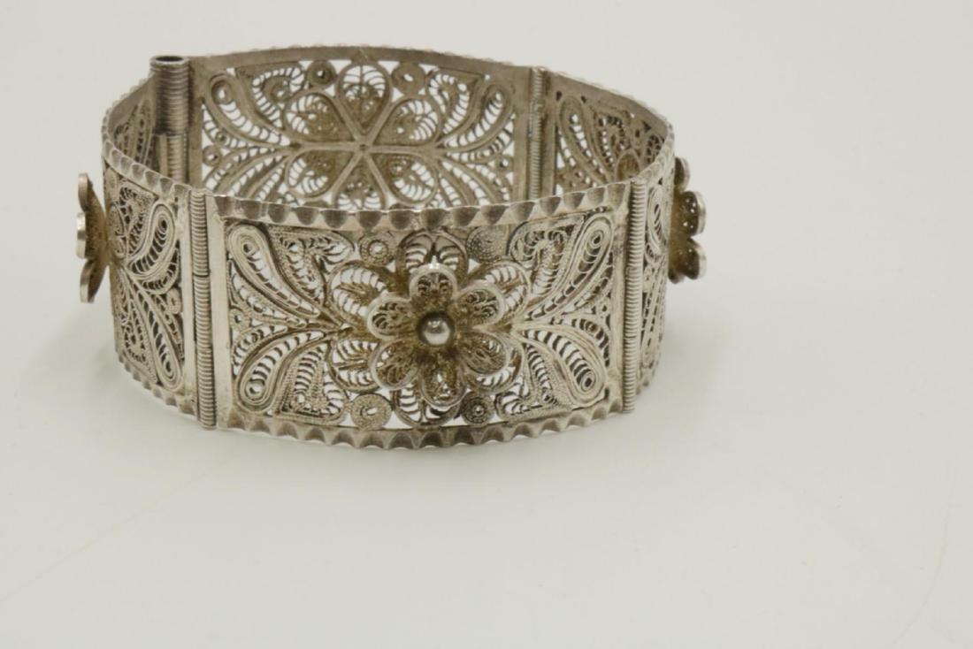 Filigree Sterling Silver Bracelet - 3