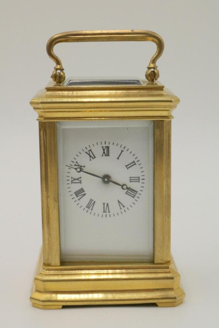 Vintage Miniature Brass Key Wind Carriage Clock