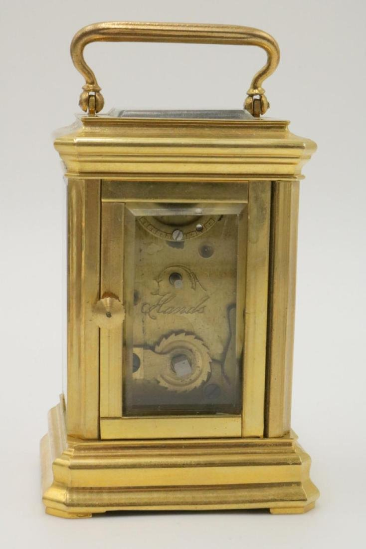 Vintage Miniature Brass Key Wind Carriage Clock - 3