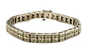 14Kt 7.99ct. Diamond Bracelet