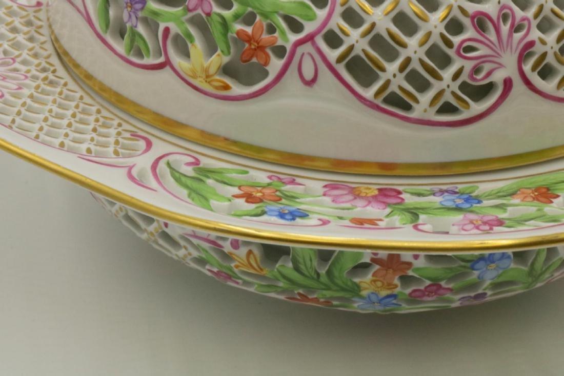 Large Herend Porcelain Covered Serving Dish - 3
