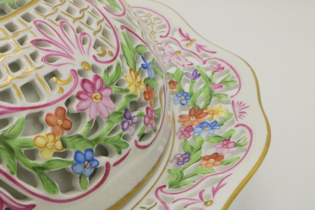 Large Herend Porcelain Covered Serving Dish - 4