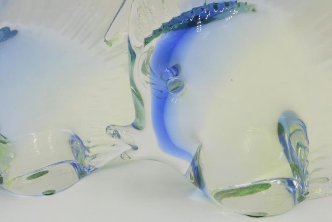 Signed Pair of Italian Murano Art Glass Fish - 3