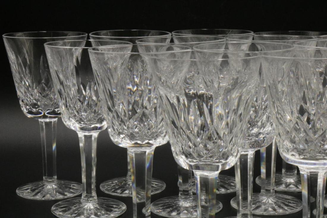 """14 Pc. Waterford """"Lismore"""" Crystal White Wines - 2"""