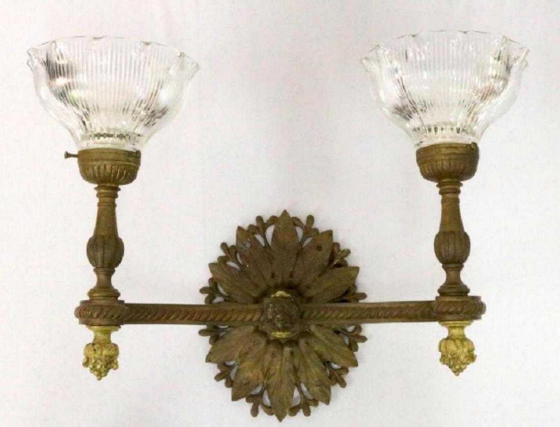 Louis XVI Style Bronze 2-Light Wall Sconce
