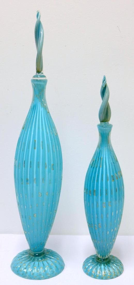 Two Camer Italian Art Glass Decanters
