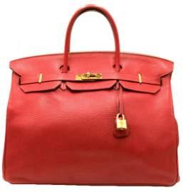 Hermes Togo Birkin 40 Rouge Garance