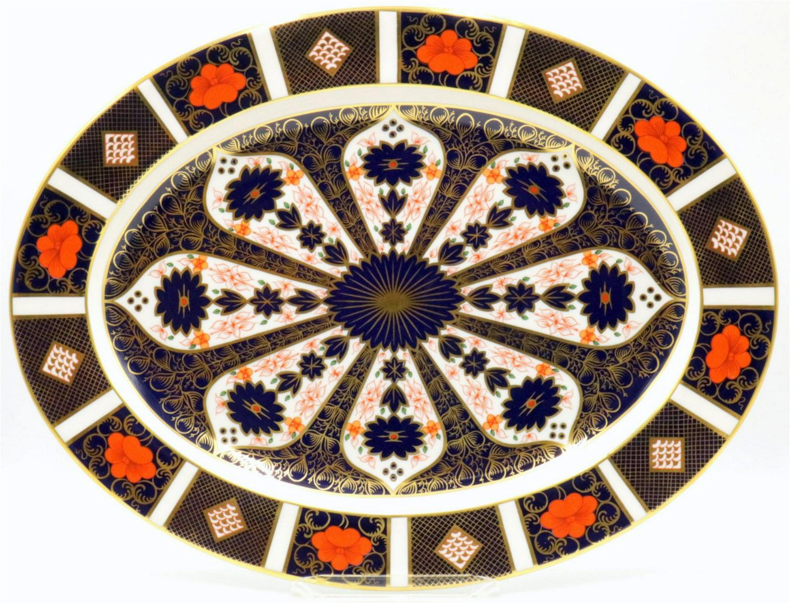 "Royal Crown Derby ""Old Imari"" Large Oval Platter"
