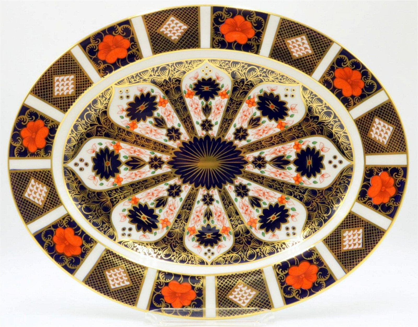 """Royal Crown Derby """"Old Imari"""" Oval Platter"""