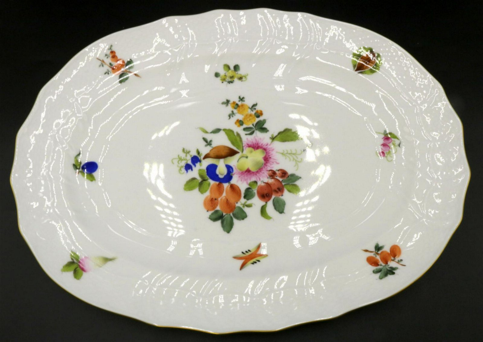 "Herend ""Market Garden"" Porcelain Tray"