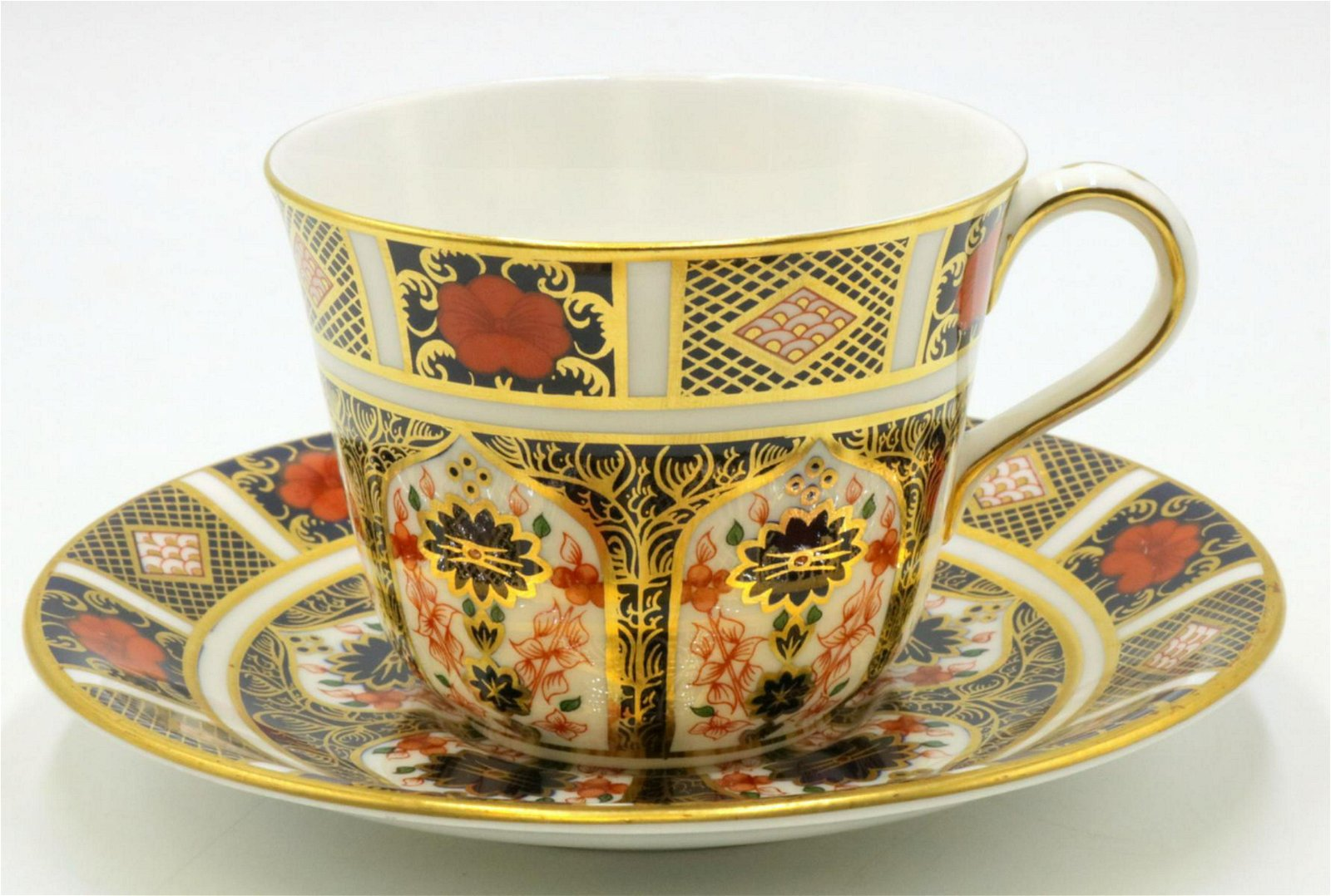 "Royal Crown Derby ""Old Imari"" Cup & Saucer"