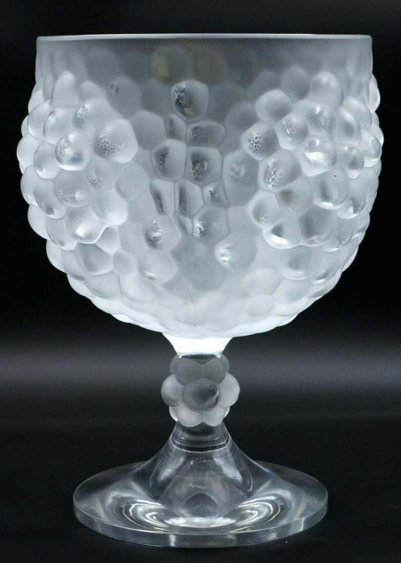 """Lalique """"Antilles"""" Grape Footed Bowl"""