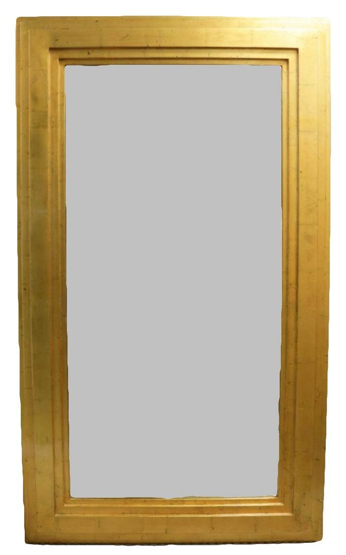 Large Modernist Jimeco Gold Wall Mirror