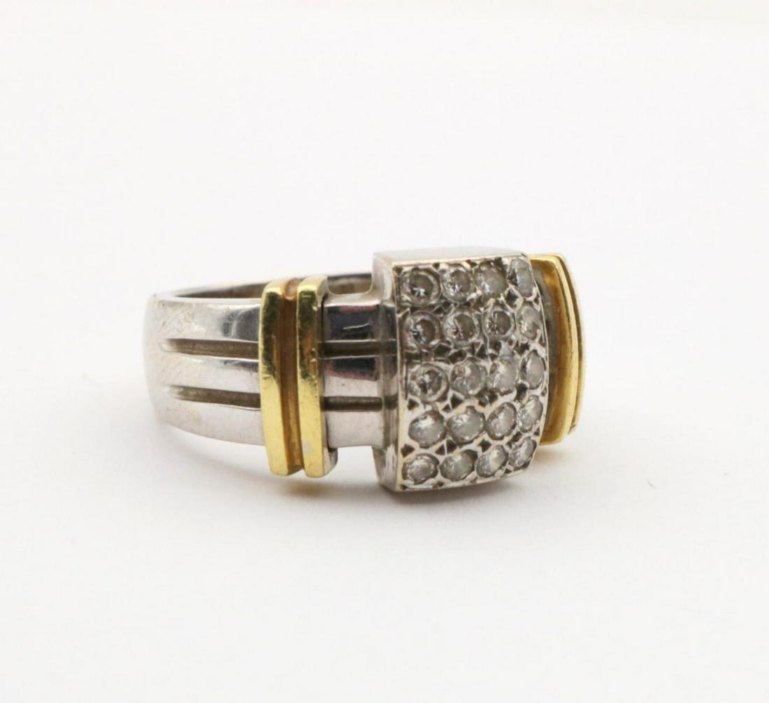 18Kt Two-Tone Diamond Ring