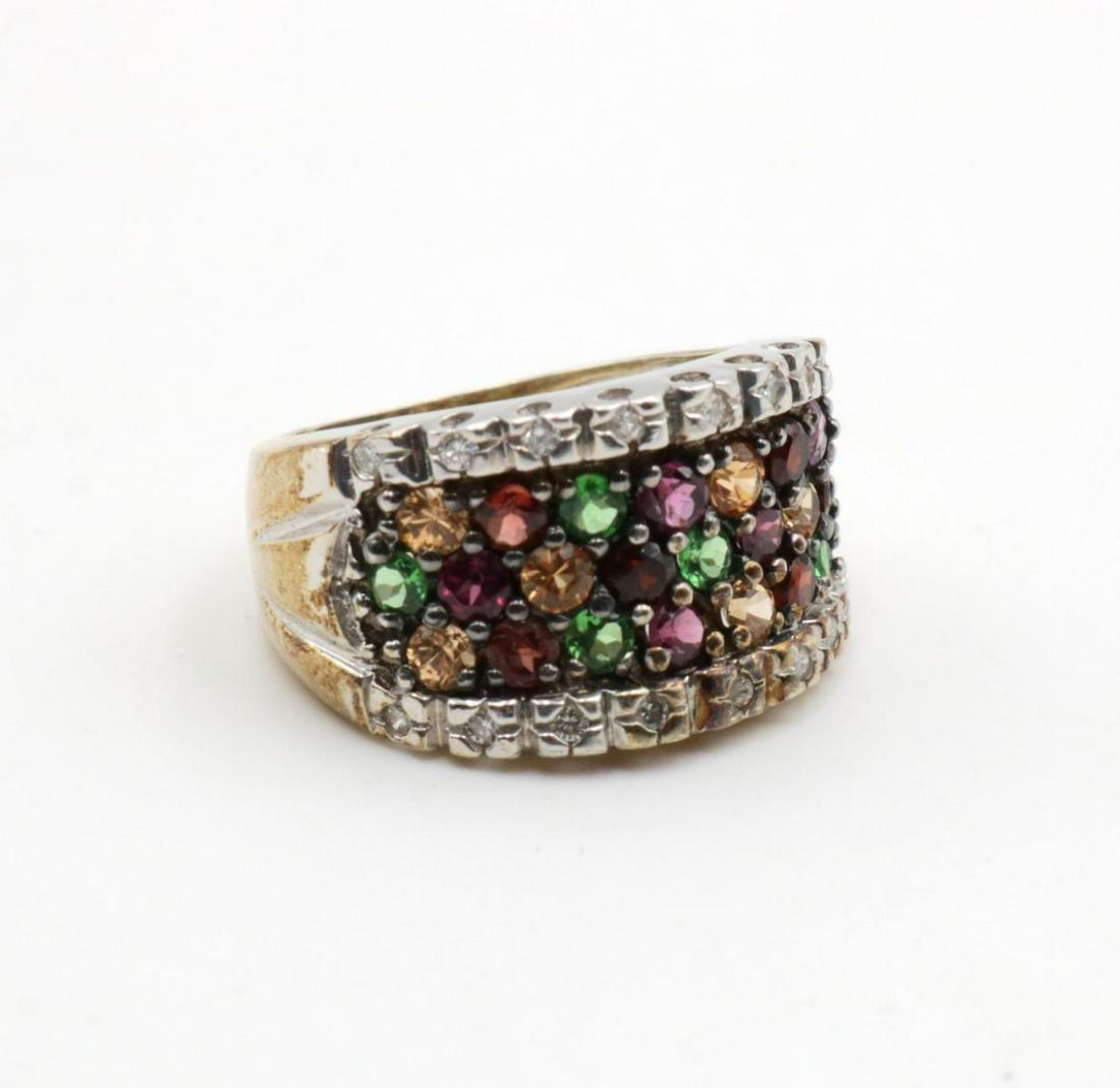 14Kt Diamond & Semi Precious Stone Ring