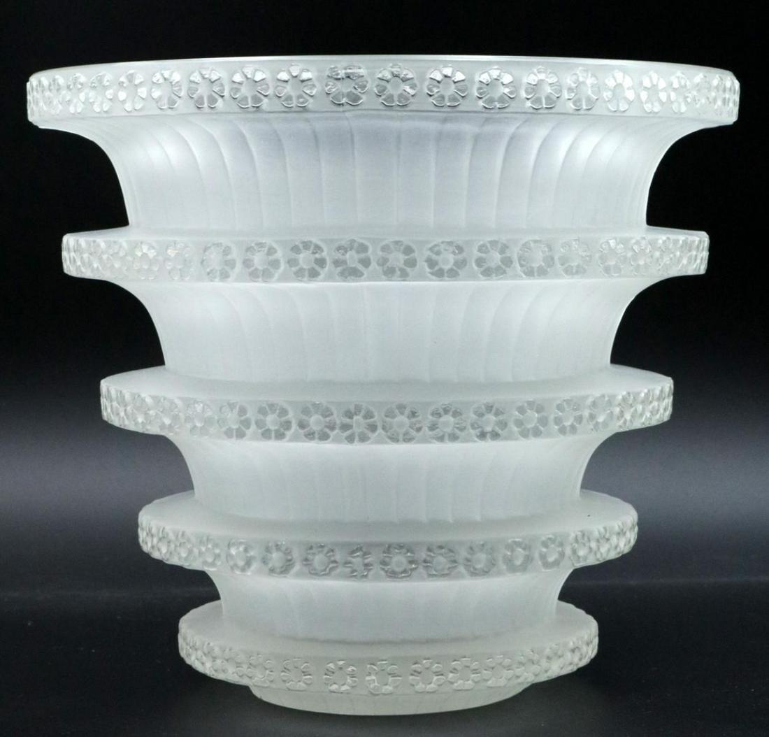 "Rene Lalique ""Chevreuse"" Crystal Vase"