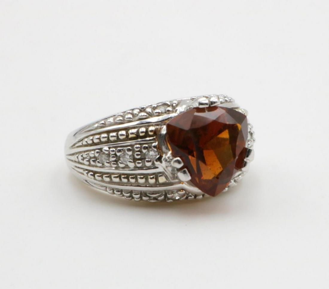 14Kt Diamond & Citrine Ring