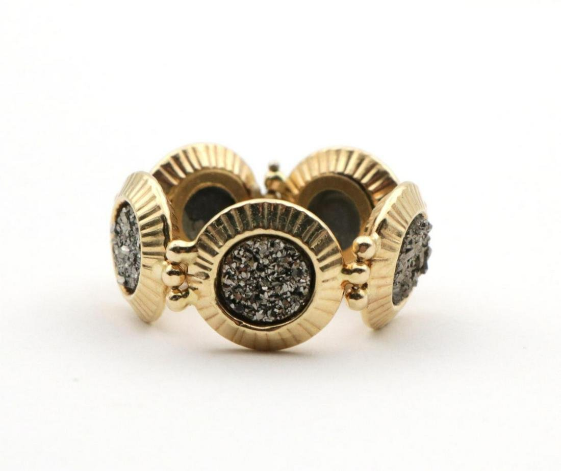 14Kt Yellow Gold & Drusy Ring