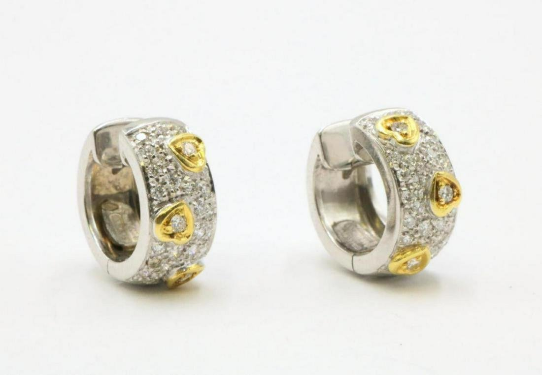Chimento 18Kt Two-Tone Diamond Huggie Earrings