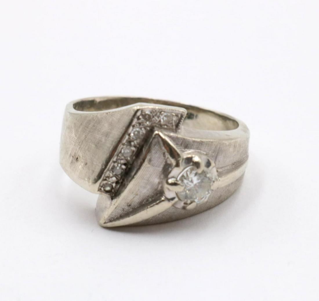 14Kt White Gold & Diamond Ring