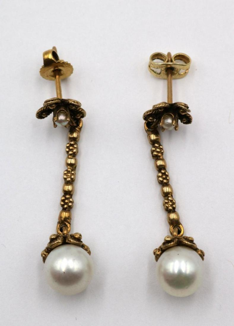 14Kt Yellow Gold & Pearl Earrings