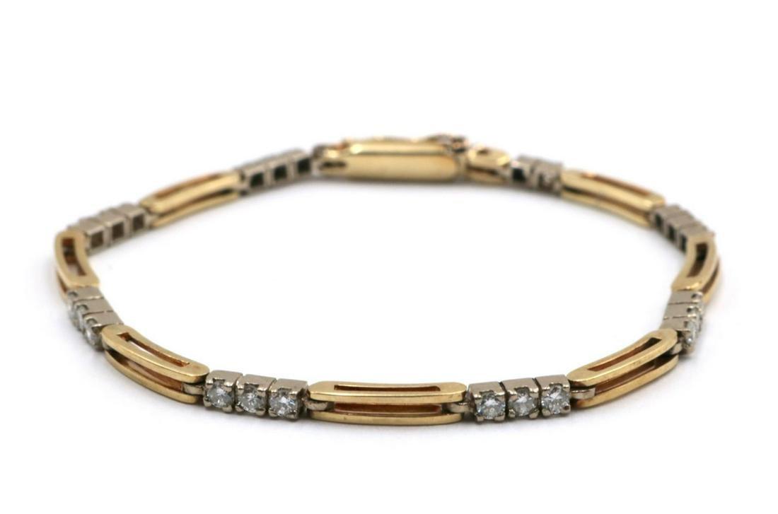 14Kt Yellow Gold & Diamond Bracelet