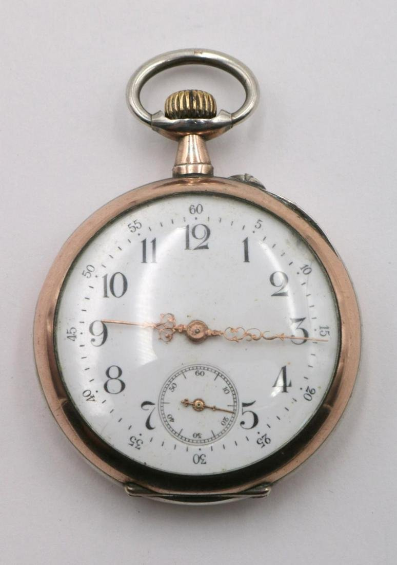 French Vermeil Sterling Pocket Watch