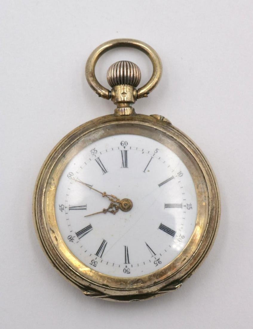 Antique Vermeil 800 Silver Pocket Watch