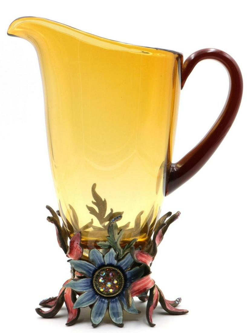"Jay Strongwater ""Tuscany Bella"" Pitcher"
