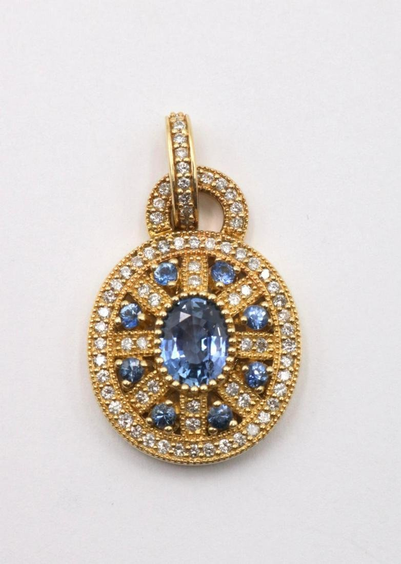 Effy BH 14Kt Diamond & Tanzanite Pendant