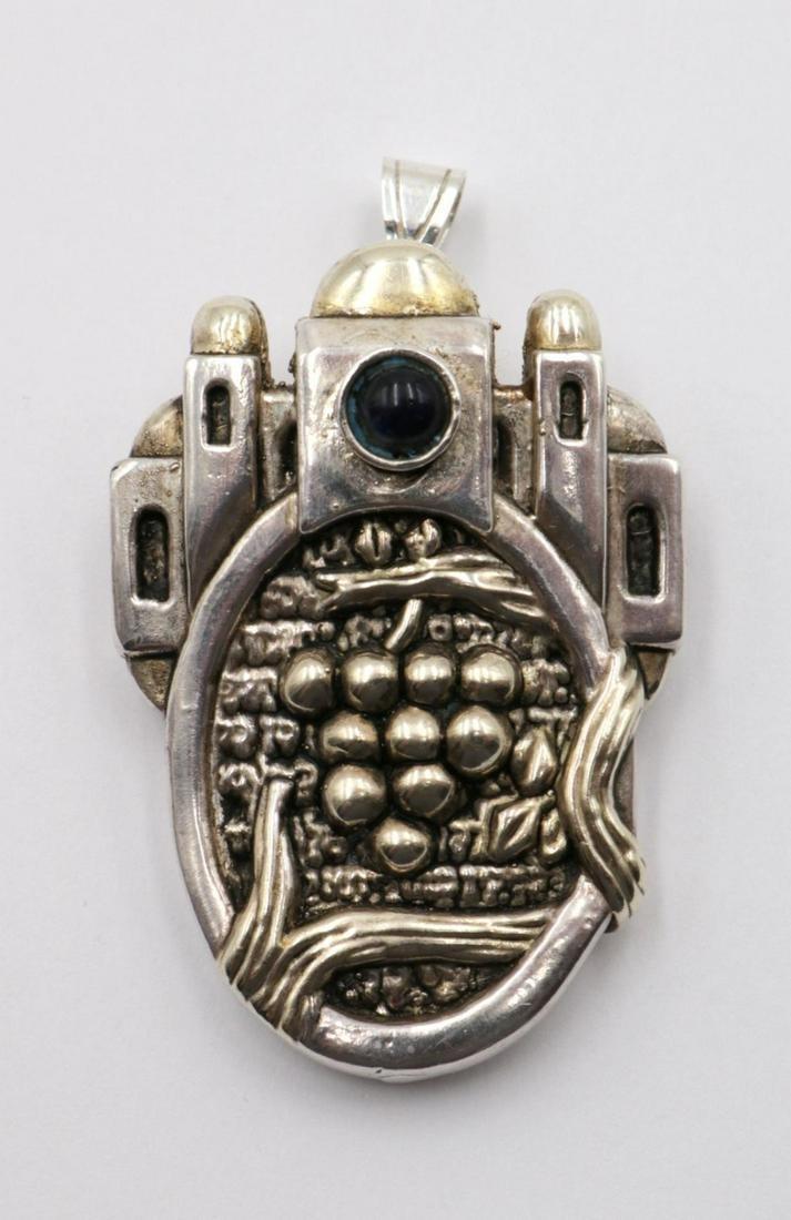 Frank Meisler Grape Sterling Silver Pendant/Pin