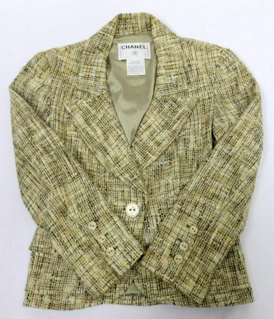 Chanel Houndstooth Tweed Jacket