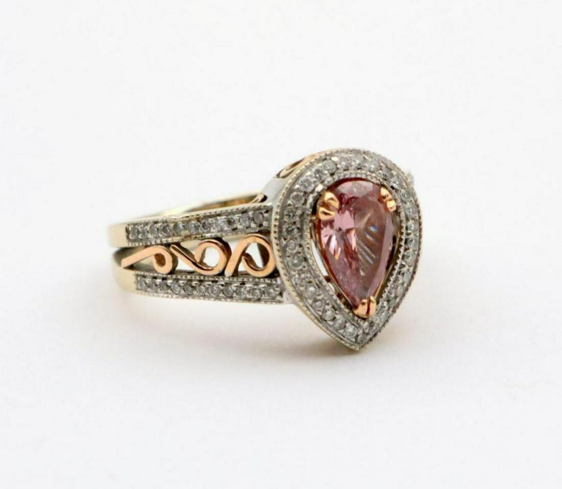 18Kt Pink Tourmaline & Diamond Ring