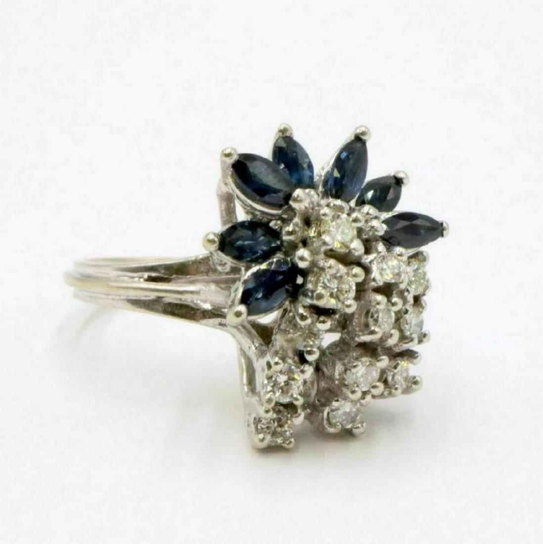 14Kt 1.54ct. Sapphire & 0.73ct. Diamond Ring