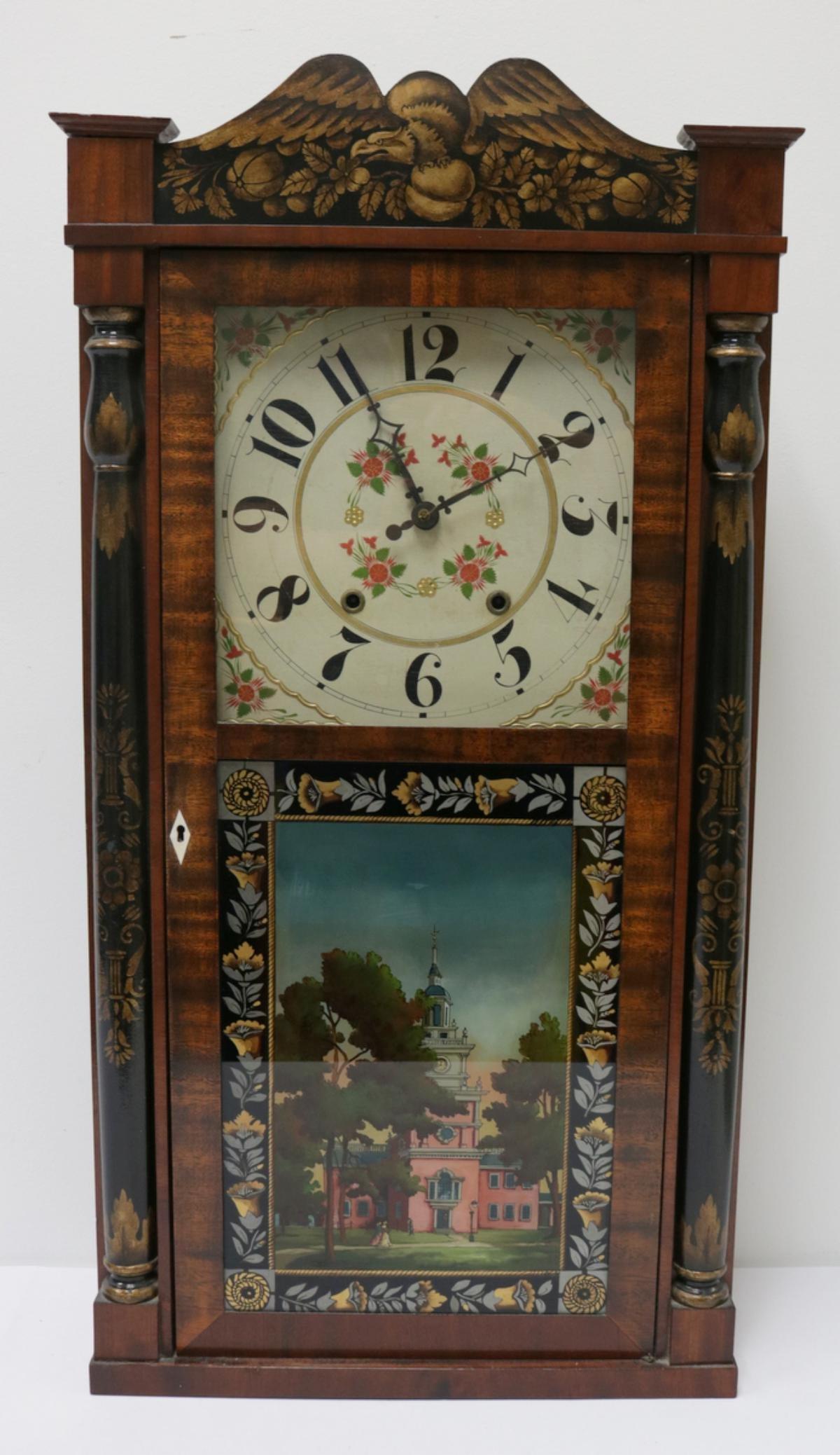 Antiques Jeromes & Darrow Wall Clock
