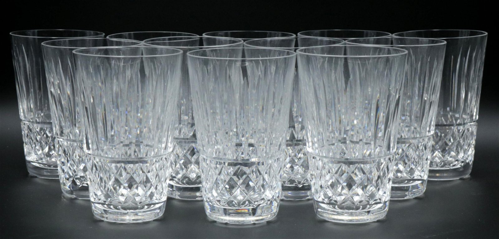 "12 Pc. Waterford ""Tramore"" Crystal Highball Glasses"