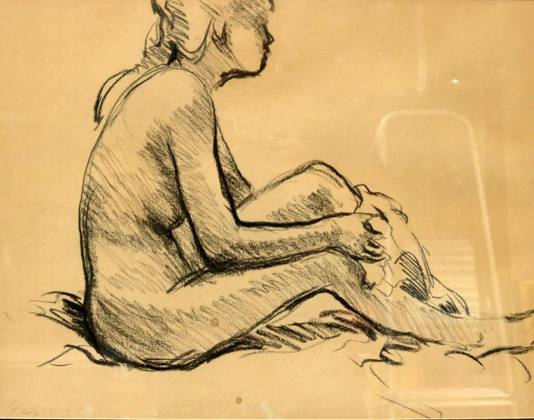 Andre Gisson (American 1921-2003) Original Pencil
