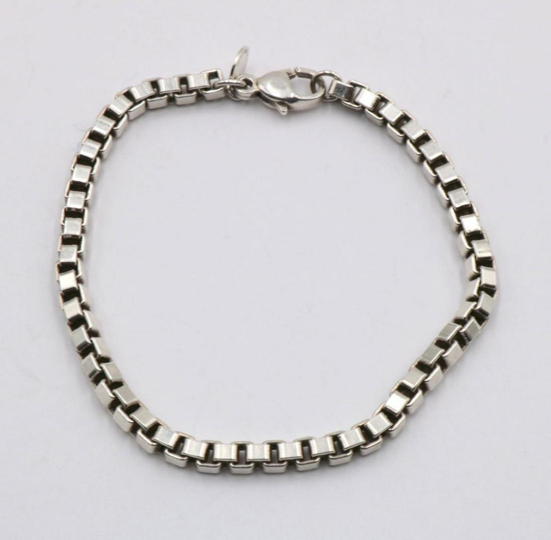 Tiffany & Co. Box Link Sterling Bracelet