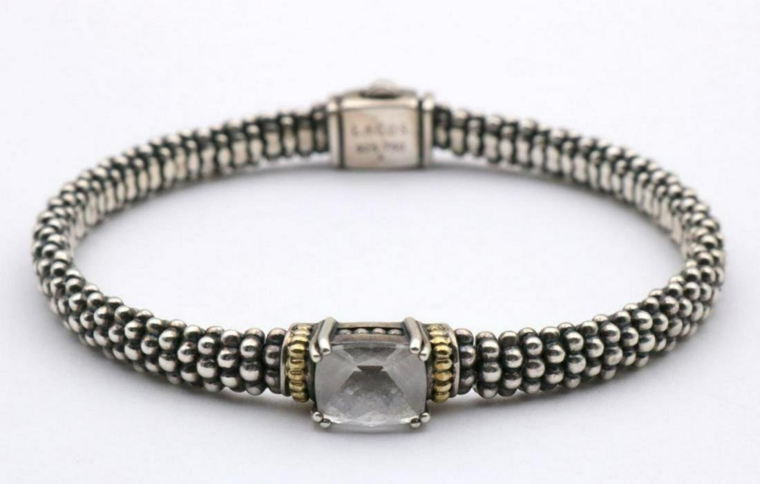 "Lagos ""Caviar"" 18Kt & Sterling Bracelet"