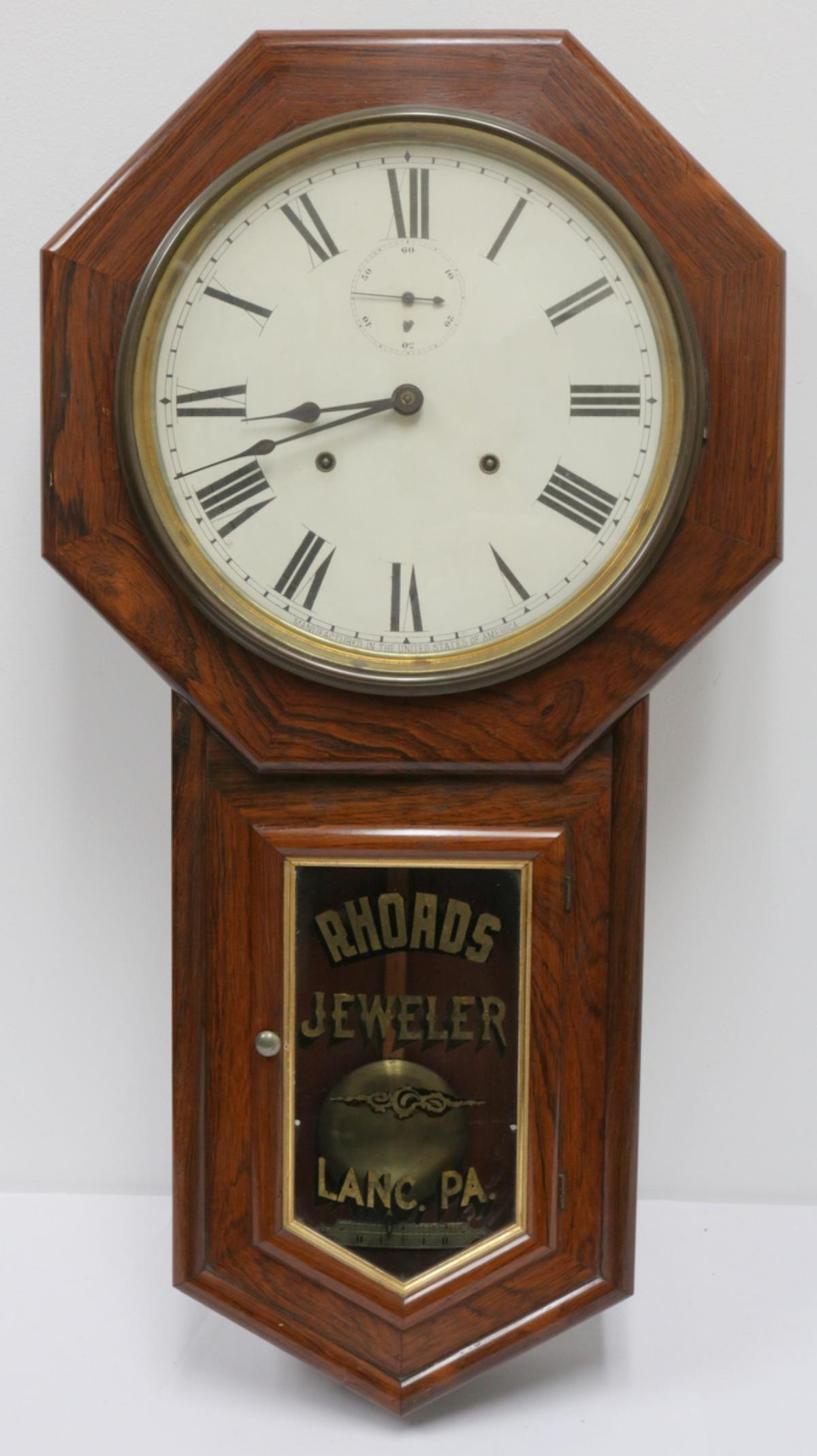 Antique American Wooden Wall Clock