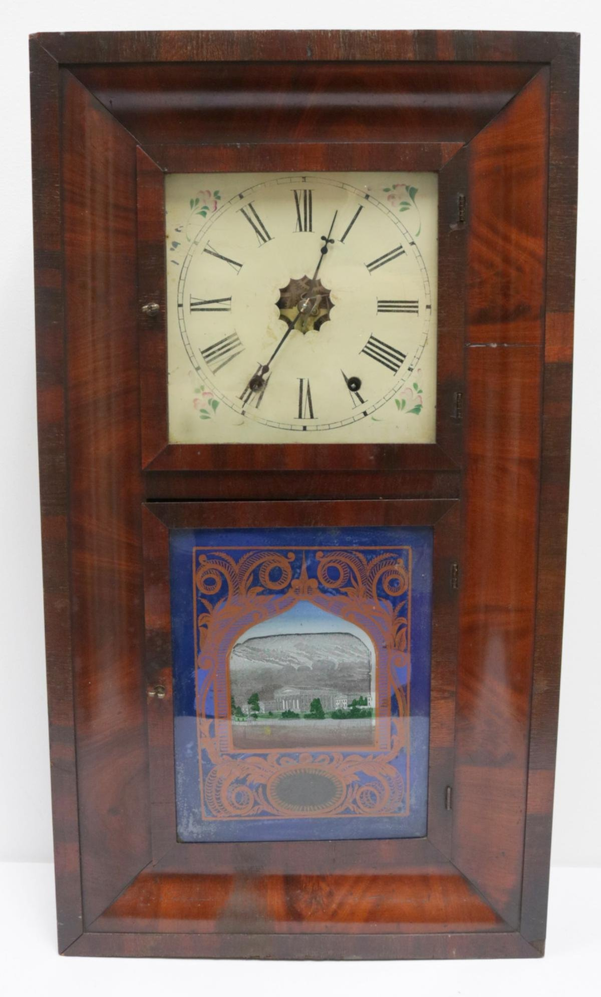 Antique Jerome & Co. Wooden Wall Clock