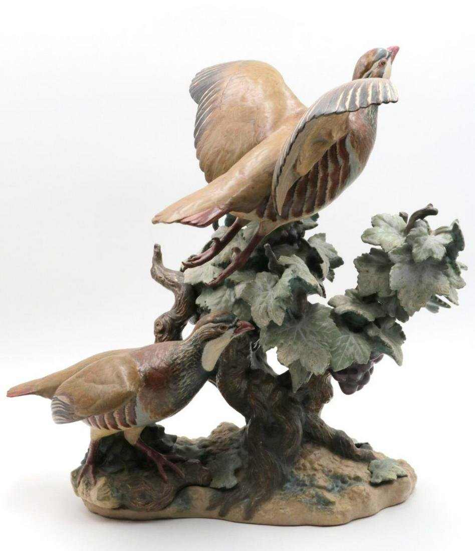 "Rare Lladro ""Partridges Flying"" Porcelain Group"