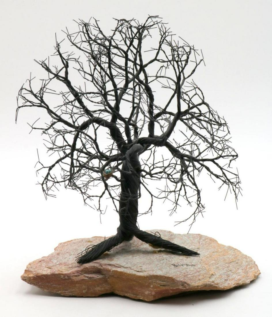 Vintage Signed Ralpha Wired Tree on Base