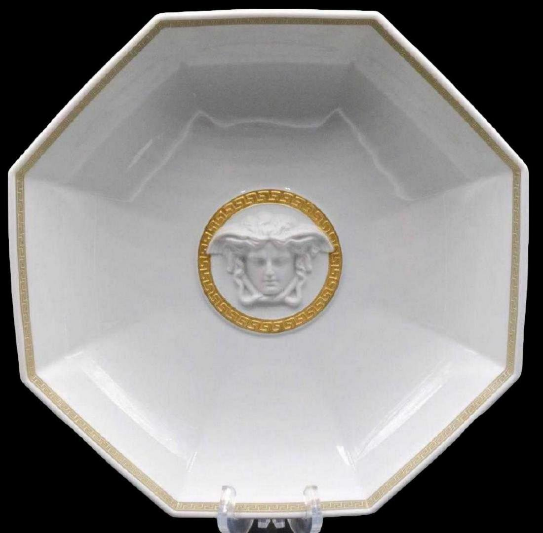 "Rosenthal Versace ""Gorgona"" Porcelain Octagonal Bowl"